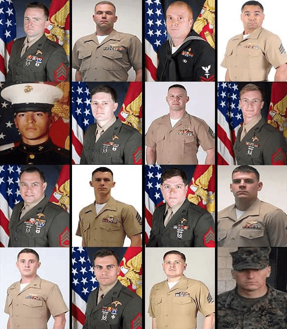 Collage of victims of the KC-130 Military Plane Crash