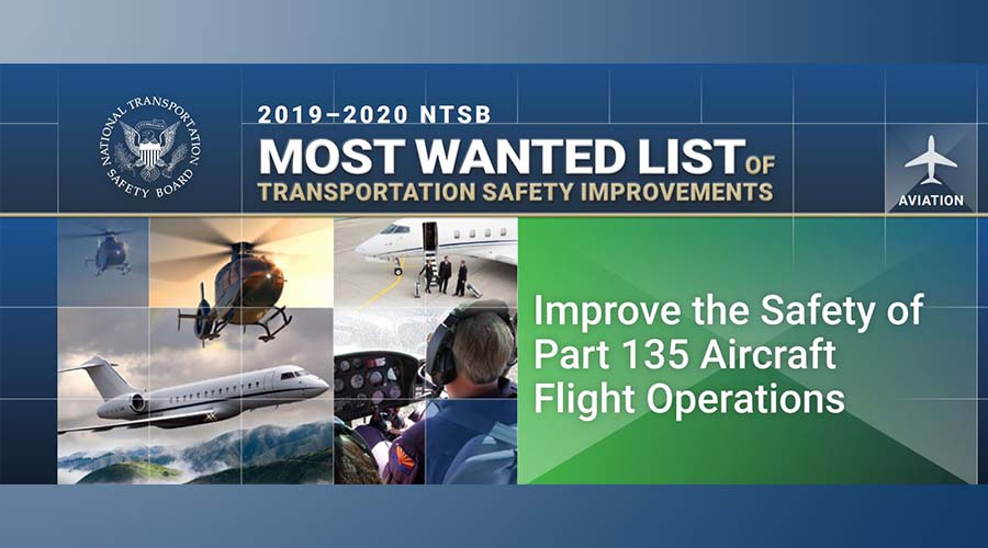 2019-2020 NTSB Most Wanted List of Transportation Safety Improvements poster
