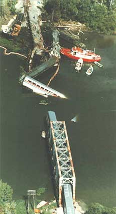 bridge collapse in the Big Bayou Canot