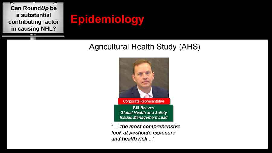 Bill Reeves Agricultural Health Study