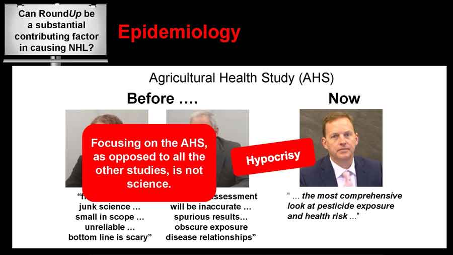 Focusing on the AHS as opposed to all the other studies, is not science - hypocrisy