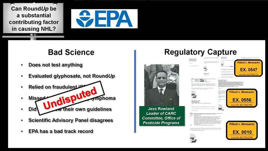 Bad science bullet points and Regulatory capture documents