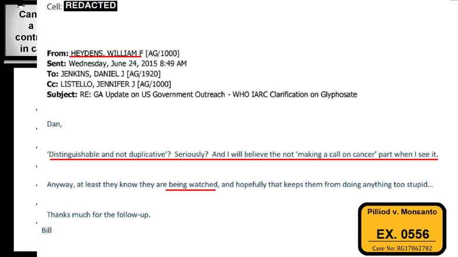 Email from William Heydens to Daniel Jenkins